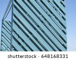 texture of a turquoise wood... | Shutterstock . vector #648168331