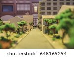 Selective Focus Of Town Model...