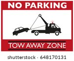no parking tow away zone...