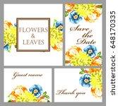 romantic invitation. wedding ... | Shutterstock . vector #648170335