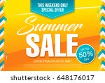 summer sale template banner in... | Shutterstock .eps vector #648176017