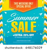 summer sale template banner in... | Shutterstock .eps vector #648176029