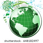 green environment sustainable... | Shutterstock . vector #648182497