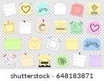 mega pack of colored office... | Shutterstock .eps vector #648183871