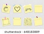 mega pack of yellow office... | Shutterstock .eps vector #648183889