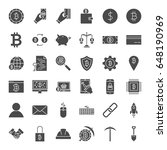 cryptocurrency solid web icons. ... | Shutterstock .eps vector #648190969