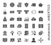 bitcoin solid web icons. vector ... | Shutterstock .eps vector #648197515