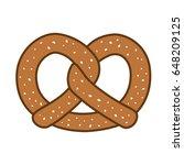 pretzel icon vector illustration | Shutterstock .eps vector #648209125