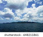 tropical island with green... | Shutterstock . vector #648211861