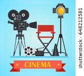 director chair and searchlight  ... | Shutterstock .eps vector #648212581