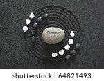 zen garden in black sand   Shutterstock . vector #64821493