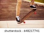 desperate skateboarder performs ... | Shutterstock . vector #648217741