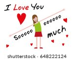 i love you  i love you so much. ...   Shutterstock .eps vector #648222124