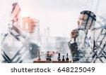 he needs winning strategy | Shutterstock . vector #648225049