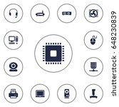 set of 13 laptop icons set... | Shutterstock .eps vector #648230839