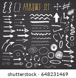 arrows  dividers and borders ... | Shutterstock .eps vector #648231469