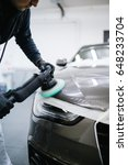 car detailing   hands with...   Shutterstock . vector #648233704
