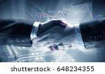 business handshake as symbol... | Shutterstock . vector #648234355