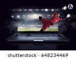 soccer goalkeeper in action.... | Shutterstock . vector #648234469