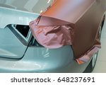 pasting of car carbonic plastic ... | Shutterstock . vector #648237691