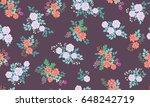 seamless folk pattern in small... | Shutterstock .eps vector #648242719