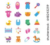 set of baby icons. baby... | Shutterstock .eps vector #648243259
