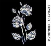 Embroidery Flowers. Embroidere...
