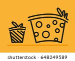 cute linear art of boxes or... | Shutterstock .eps vector #648249589
