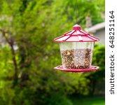 bird feeder. selective focus. | Shutterstock . vector #648251164