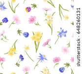 colored floral seamless pattern ... | Shutterstock .eps vector #648260131