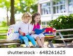 children go back to school.... | Shutterstock . vector #648261625