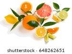 different citrus fruits  orange ... | Shutterstock . vector #648262651
