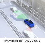 side view assist system avoid... | Shutterstock . vector #648263371