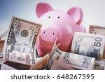 Piggy Bank Style Money Box On...