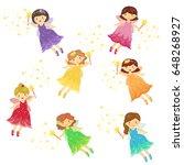 cute fairy fairies girl cartoon ... | Shutterstock .eps vector #648268927