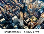 aerial view of the skyscrapers... | Shutterstock . vector #648271795