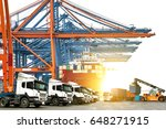 industrial logistics containers ... | Shutterstock . vector #648271915
