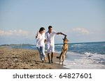 happy young family in white... | Shutterstock . vector #64827601