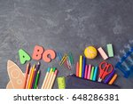 back to school background with... | Shutterstock . vector #648286381