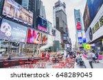 new york  usa   april 17  2017  ...   Shutterstock . vector #648289045
