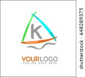 k letter and sail boat logo... | Shutterstock .eps vector #648289375