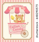 cute cotton candy booth vector | Shutterstock .eps vector #648290575