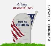 happy memorial day banner say... | Shutterstock .eps vector #648291649