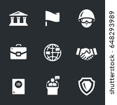 vector set of embassy icons. | Shutterstock .eps vector #648293989