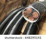 the close up of the electrical... | Shutterstock . vector #648295141