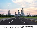 oil refinery industry   with... | Shutterstock . vector #648297571