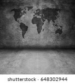 world globe grunge interior | Shutterstock . vector #648302944