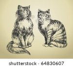 Cats Drawing High Quality
