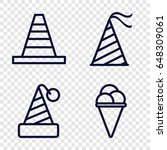 cone icons set. set of 4 cone... | Shutterstock .eps vector #648309061