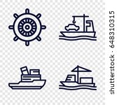 vessel icons set. set of 4... | Shutterstock .eps vector #648310315